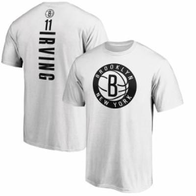 ファナティックス メンズ Kyrie Irving Brooklyn Nets Fanatics Branded Playmaker Name & Number Team T-Shirt Tシャツ 半袖 White