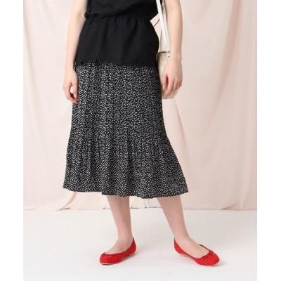 Couture Brooch/クチュールブローチ 【セットアップ/洗える】プチディジープリーツスカート ブラック(119) 38(M)