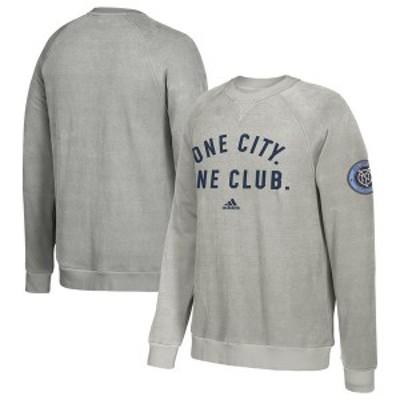 アディダス メンズ パーカー・スウェット アウター New York City FC adidas Local Slogan Sweatshirt Gray
