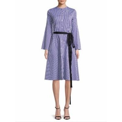 MDS ストライプス レディース ワンピース Stripe Shirtdress