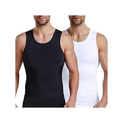 [新品]ISUP Mens Slimming Body Shaper Compression Tank Top Undershirt Shapewear