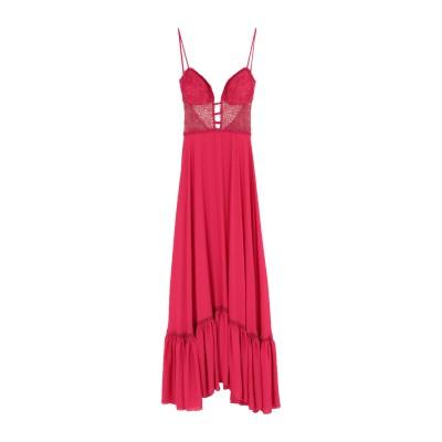 SOANI ロングワンピース&ドレス フューシャ 44 ポリエステル 100% ロングワンピース&ドレス