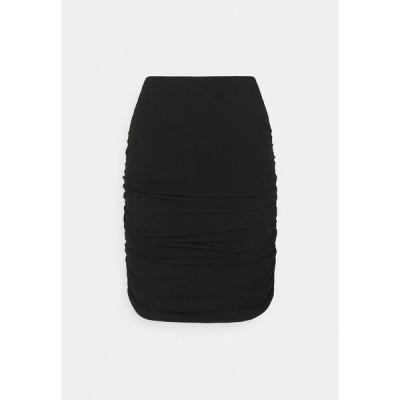 オブジェクト スカート レディース ボトムス OBJLUCA PAPE SKIRT  - Mini skirt - black