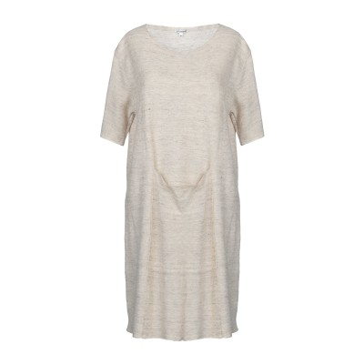 GAIA MARTINO ミニワンピース&ドレス ベージュ 44 麻 70% / シルク 30% ミニワンピース&ドレス