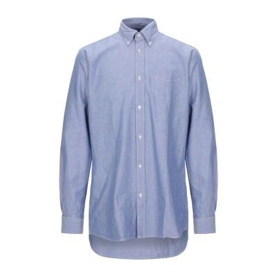 R3D WÖÔD シャツ ブルー L コットン 100% シャツ
