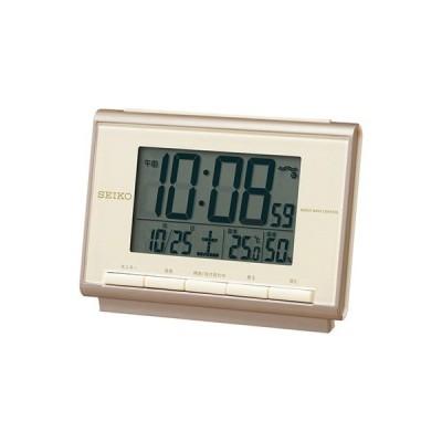 SEIKO セイコー クロック 温度・湿度表示つき 電波目覚まし時計  SQ698C