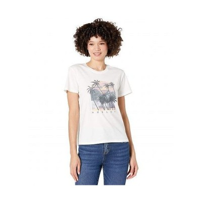 Hurley ハーレー レディース 女性用 ファッション Tシャツ Koh Lanta Washed Girlfriend Short Sleeve Tee - Sail