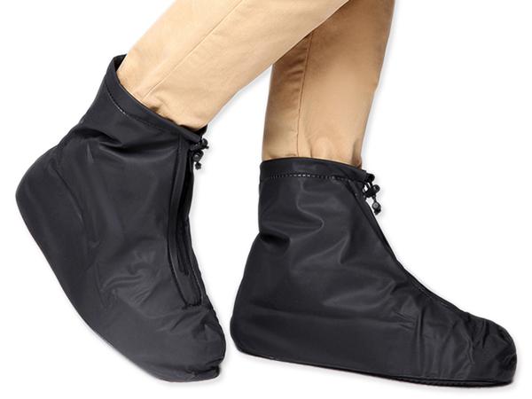 拉鍊式便利加厚耐磨通用防水雨鞋套(1雙入) 2款/3種尺寸可選【D020659】