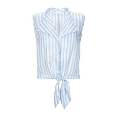 XACUS シャツ アジュールブルー 42 レーヨン 84% / シルク 16% シャツ
