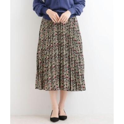 NIMES / ニーム フラワーptデシン プリーツスカート
