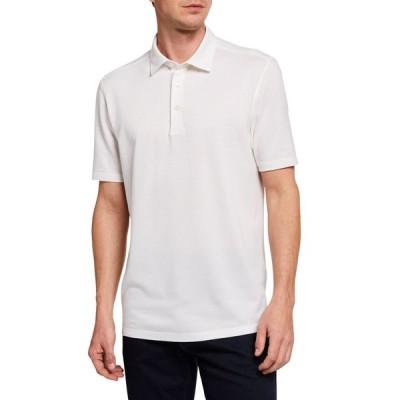 エルメネジルド・ゼニア メンズ シャツ トップス Men's Regular-Fit Solid Cotton-Blend Polo Shirt
