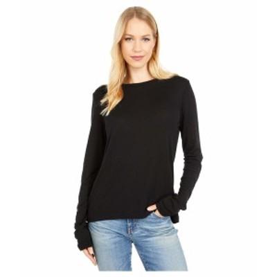 マイケルスターズ レディース シャツ トップス Kristen 1X1 Slub Crew Neck T-Shirt Black