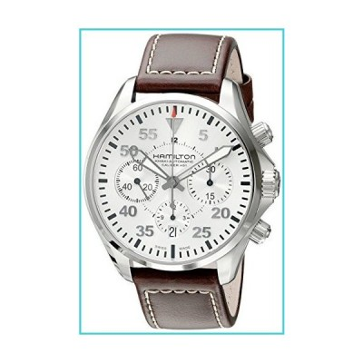 Hamilton Men's H64666555 Khaki Aviation Stainless Steel Automatic Watch with Brown Leather Band【並行輸入品】