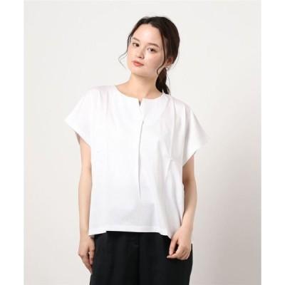 tシャツ Tシャツ 【FLEUR DE KALINA/フレール ドゥ カリーナ】スリットタックシルケットTシャツ