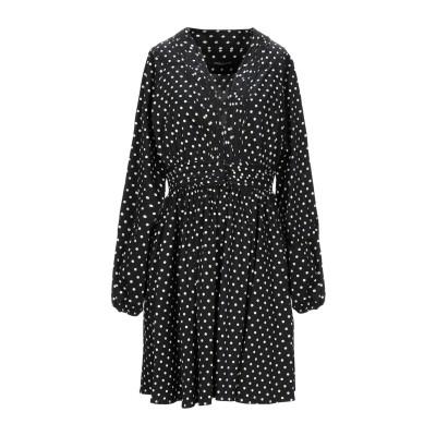 ANDAMANE ミニワンピース&ドレス ブラック S コットン 97% / ポリウレタン 3% ミニワンピース&ドレス