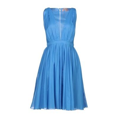 ヌメロ ヴェントゥーノ N°21 ミニワンピース&ドレス アジュールブルー 44 コットン 100% ミニワンピース&ドレス