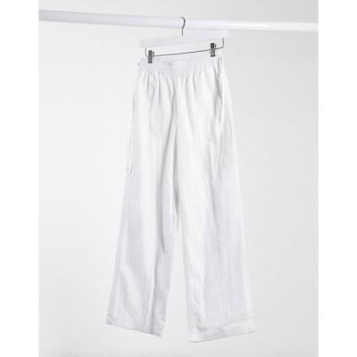 エイソス レディース カジュアルパンツ ボトムス ASOS DESIGN tie side elastic waistband jogger in off white