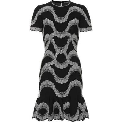 アレキサンダー マックイーン Alexander McQueen レディース ワンピース ワンピース・ドレス Jacquard knit minidress Black/Ivory