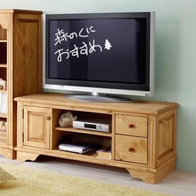 パイン材の薄型47型OKの120cm巾カントリーテレビボード