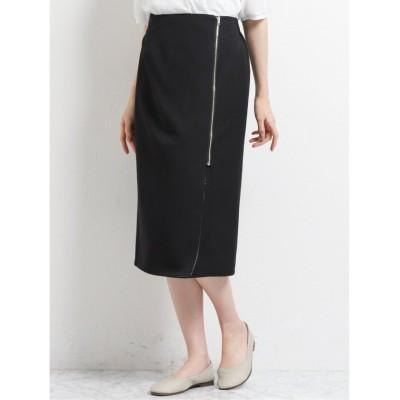 【タカキュー】 リバーシブル2WAYタイトスカート レディース ブラック M TAKA-Q