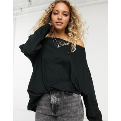 オールセインツ レディース シャツ トップス AllSaints Rita long sleeve t-shirt in black