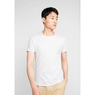 トムテイラーデニム メンズ Tシャツ トップス IN NEW STRUCTURE - Basic T-shirt - white melange white melange