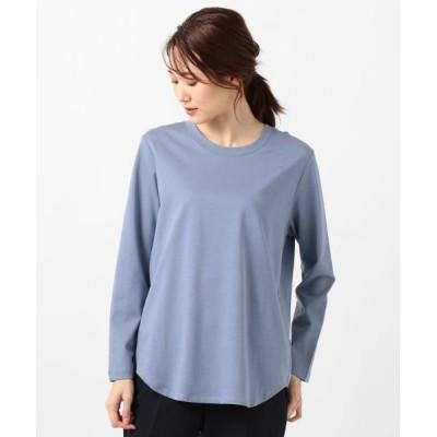 L size ONWARD(大きいサイズ)/エルサイズオンワード 【マガジン掲載】Simple Jersey カットソー ブルー系 XL