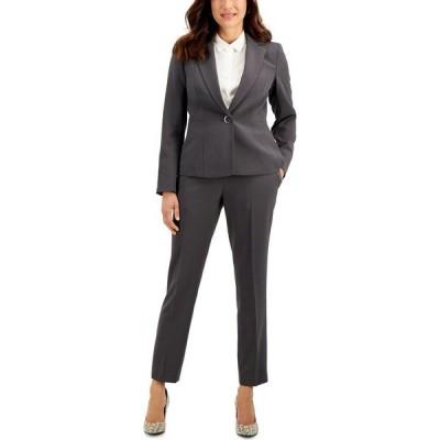 ル スーツ Le Suit レディース スーツ・ジャケット パンツスーツ アウター Stretch Crepe Pantsuit Steel Gray