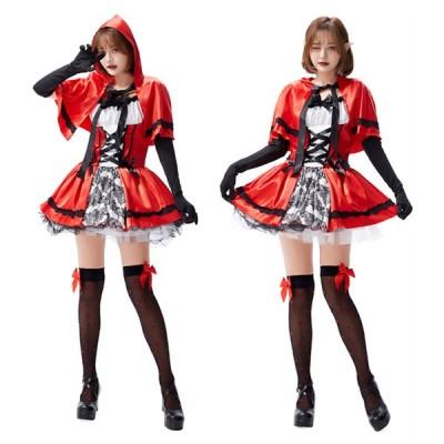 高品質 ハロウィン 大人cosplay 仮装 衣装 コスプレ コスチューム♪赤ずきん メイド服 パーティー 舞台 イベント 演出服