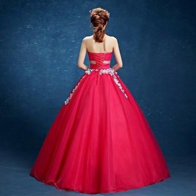 ウェディングドレス二次会ウエディングドレスカラードレスロング二次会ドレスパーティードレスロングドレスイブニングドレス大きいサイズ結婚式
