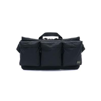 (PORTER/ポーター)吉田カバン ポーター ウエストバッグ PORTER FORCE フォース WAIST BAG ウエストポーチ 日本製 855-05460/ユニセックス ブラック