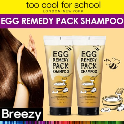 BREEZY ★[too cool for school] Egg Remedy Pack Shampoo 200g / highly nourishing shampoo