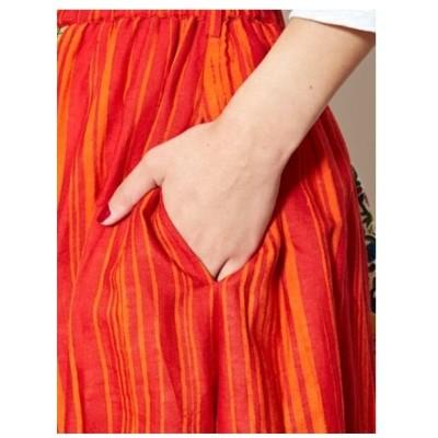 チャイハネ(チャイハネ)【チャイハネ】フォークロアパッチワークプリントスカート