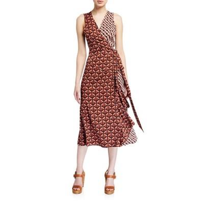 ダイアン フォン ファステンバーグ レディース ワンピース トップス Moira Printed Sleeveless Wrap Dress