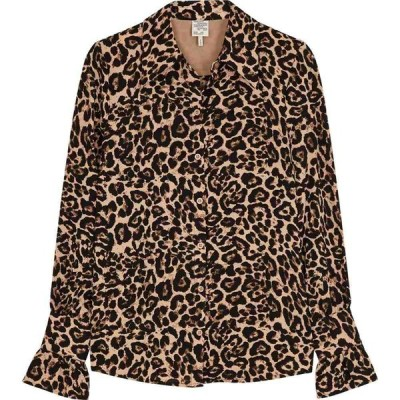 バウム ウンド ヘルガーデン Baum und Pferdgarten レディース ブラウス・シャツ トップス Macy Leopard-Print Shirt Yellow