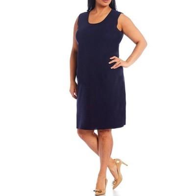 ミンウォン レディース ワンピース トップス Plus Size Scoop Neck Tank Dress