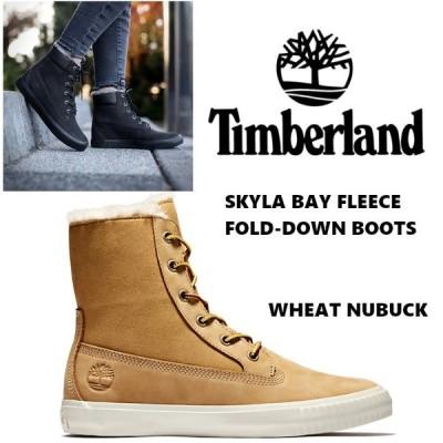 TIMBERLANDSKYLA BAY FLEECE FOLD-DOWN BOOTS ティンバーランド フリース ブーツ スニーカー ウィート ハイカット レディース US正規品 送料無料 直輸入