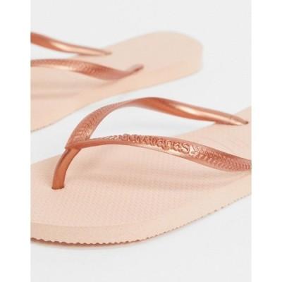 ハワイアナス レディース サンダル シューズ Havaianas slim flip-flops in ballet rose Ballet rose