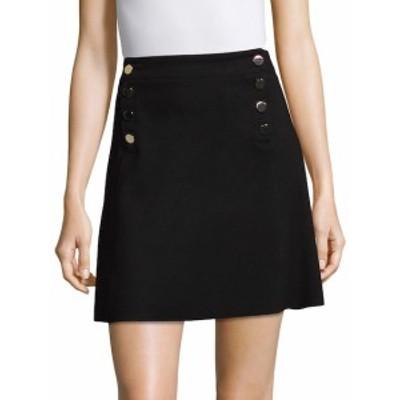 スリー ドッツ レディース スカート Button Detail A-Line Skirt