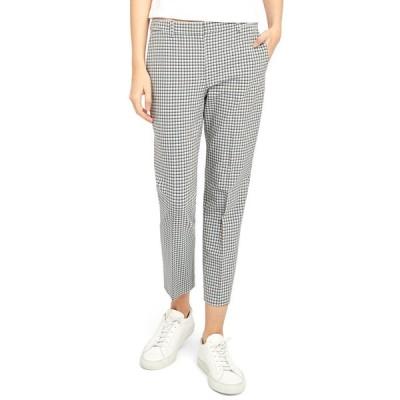 セオリー レディース カジュアルパンツ ボトムス Treeca 4 Grid Cropped Pants