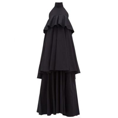 ラダブルジェー La DoubleJ レディース パーティードレス ティアードドレス ワンピース・ドレス Bon Bon halterneck tiered cotton dress Black