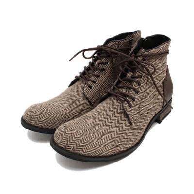 ZealMarket/SFW / ツイードドレープショートブーツ MEN シューズ > ブーツ