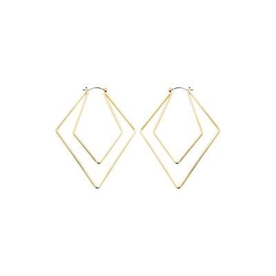 パナセラ レディース ピアス&イヤリング アクセサリー Diamond Shaped Hoop Earrings GOLD