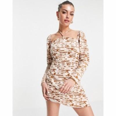 ファッションユニオン Fashion Union レディース ワンピース シフトドレス ワンピース・ドレス Mini Shift Dress In Retro Floral Print