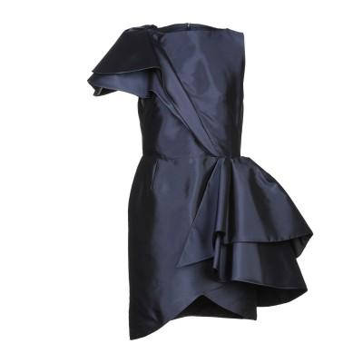 ランバン LANVIN ミニワンピース&ドレス ダークブルー 34 シルク 100% ミニワンピース&ドレス
