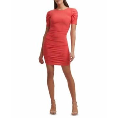 ゲス レディース ワンピース トップス Ruched Bodycon Dress Coral