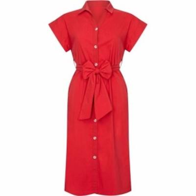 ユミ Yumi レディース ワンピース シャツワンピース ワンピース・ドレス Utility Shirt Dress With Pockets Red