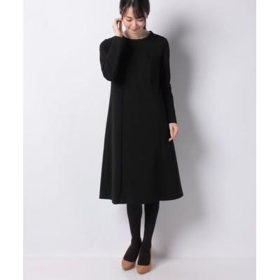 MISS J/ミス ジェイ ツイルジャージードレス ブラック 38