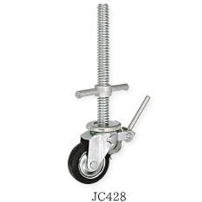キャスター ジャッキ 直径34mm用 JC428 4本入 枠組部品 単管 パイプ 用 仮設 移動式 足場 資材 123 伊藤製作所 アミD