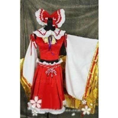 東方project 博麗 霊夢 博麗神社例大祭6 風 コスプレ衣装  ★ 完全オーダメイドも対応可能 * K217